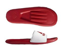 4 Mens NEW! Adidas Carozoon LG Slides F32915 Red Sandal Slip