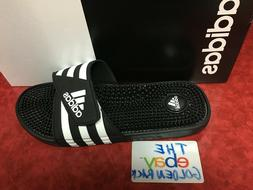 ADIDAS ADISSAGE MEN BLACK WHITE Sandal Slippers 078260 Fast