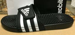 ADIDAS adissage Men black White Sandal Slippers F35580 Fast