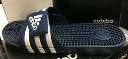 ADIDAS adissage Men Dark Blue/White Sandal Slippers F35579 F