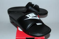 Nike Air Benassi JDI Black White Slide Slippers 343880-090 M