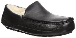 Men's Ugg Ascot Leather Slipper, Size 17 M - Black