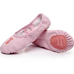 DubeeBaby Girls Ballet Slippers Shoes,Split Sole 3D Embroide