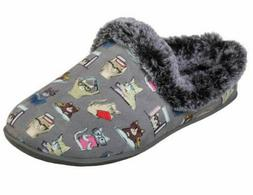 SKECHERS BOBS BEACH BONFIRE SLIPPERS CHARCOAL CAT STUDY CLUB