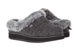 BOBS from Skechers Slippers for Women Grey with Faux Fur Fre