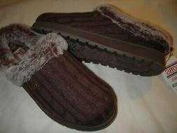Skechers Bobs Ice Angel Sweater Knit Memory Foam Slippers Wo
