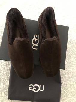 chateau genuine shearling lined slippers shoes size