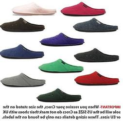 Crocs Classic Slipper Fleece Lined Roomy Fit Clogs Shoes in