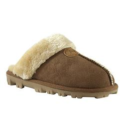 CLPP'LI Womens Slip On Faux Fur Warm Winter Mules Fluffy Sue
