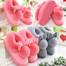 Cute Rabbit Bunny Style Slippers Fuzzy Women Indoor Warm Mix