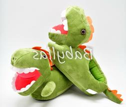 Dinosaur Slippers T-Rex Plush Soft Warm Winter Shoes Fluffy