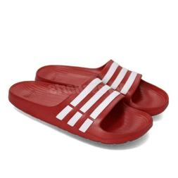 duramo slide red white sports sandals slippers