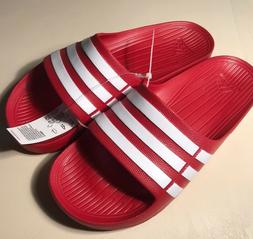 ADIDAS DURAMO SLIDES G15886 RED WHITE SLIDES SANDALS FLIP FL