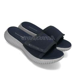 Skechers Elite Flex-Shore Ridge Navy Grey Men Sandals Slides