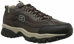 Skechers Men's Energy-Downforce, Brown/Taupe, 10 EE-Wide