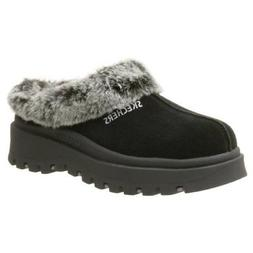 Skechers Women's Fortress Clog Slipper,Black,7.5 M US