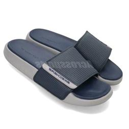 Skechers Gambix 2.0 Navy Blue Grey Men Sandals Slides Slippe