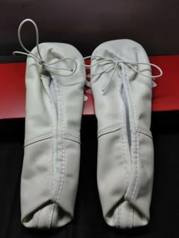 Capezio Girls Youth Daisy White Leather Ballet/Dance Shoes/S