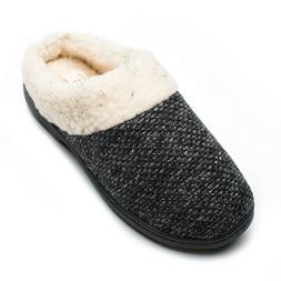 Git-up Women's Slippers Memory Foam Slip-on House Shoes Wool
