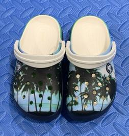 """CROCS""""GRAPHIC""""TROPIC, BLUE/WHT  #204538-100 FOR FUN, see"""