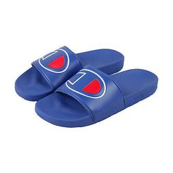 Champion Ipo Mens Blue Synthetic Slides Slip On Sandals Shoe