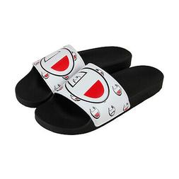 Champion Ipo Repeat C Mens White Synthetic Slides Slip On Sa