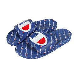 Champion Ipo Repeat Mens Blue Synthetic Slides Slip On Sanda