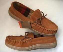Route 66 Jordan Slippers Mens Size 11 Tan Suede Leather Rubb