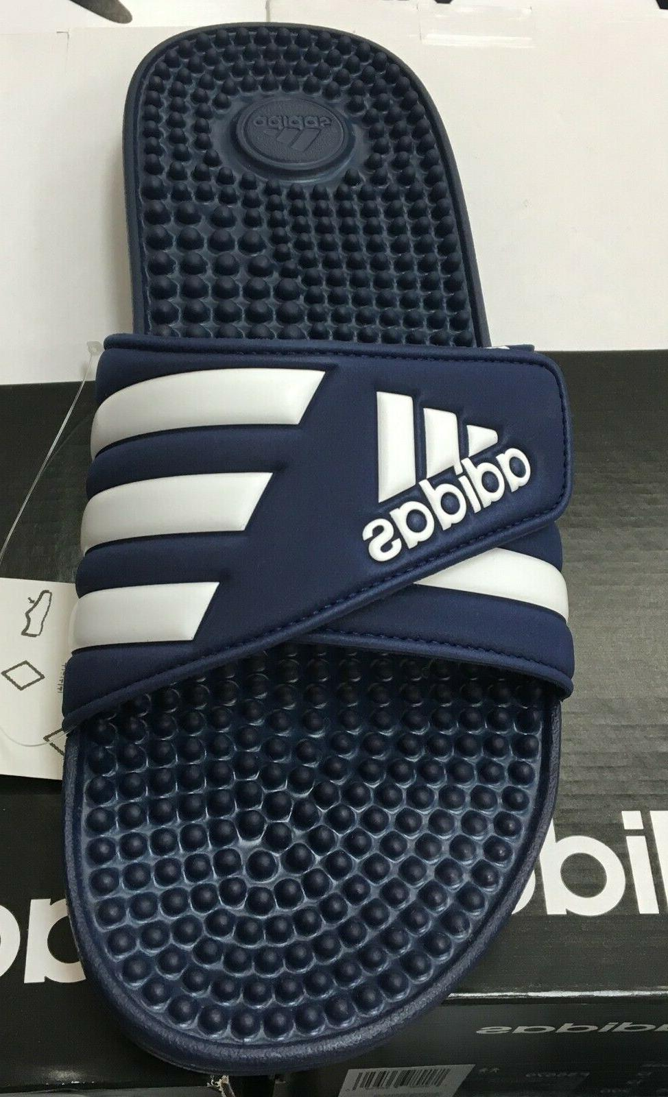 ADIDAS adissage Blue/White Sandal Fast Shipping OS
