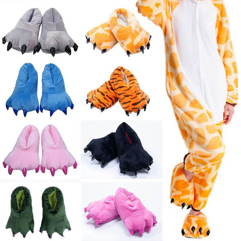 adult kid animal monster feet slippers claw