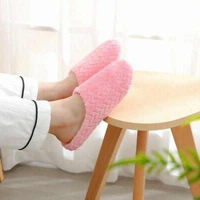 Ladies Memory Slippers House Shoes Anti Slip Home