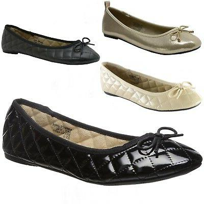 aster womens comfort ballet flats faux leather
