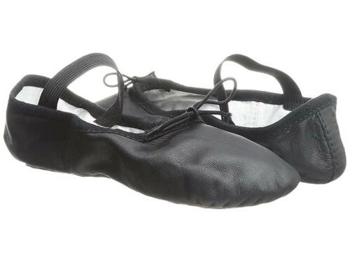 Bloch Ballet Slippers/Shoes Solid Sole Kids Black Size 1B.