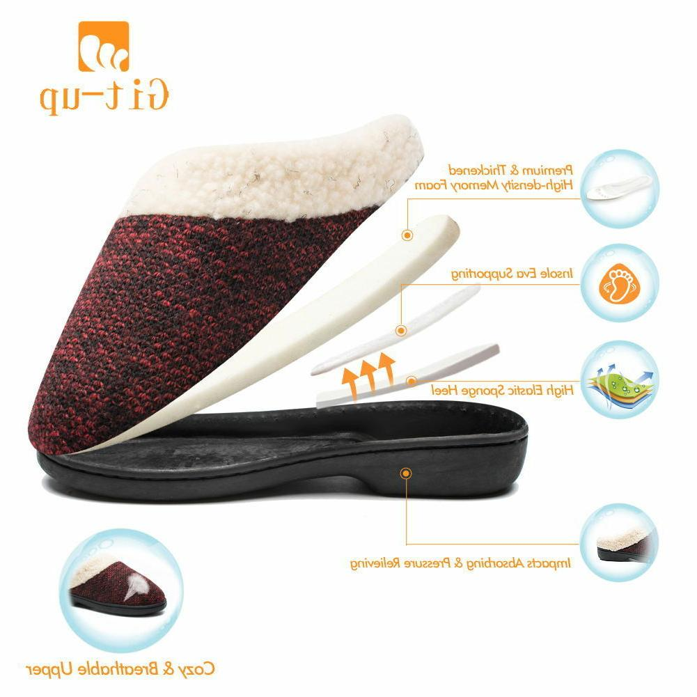 Foam Slip-on Wool Plush Fleece W/Indo