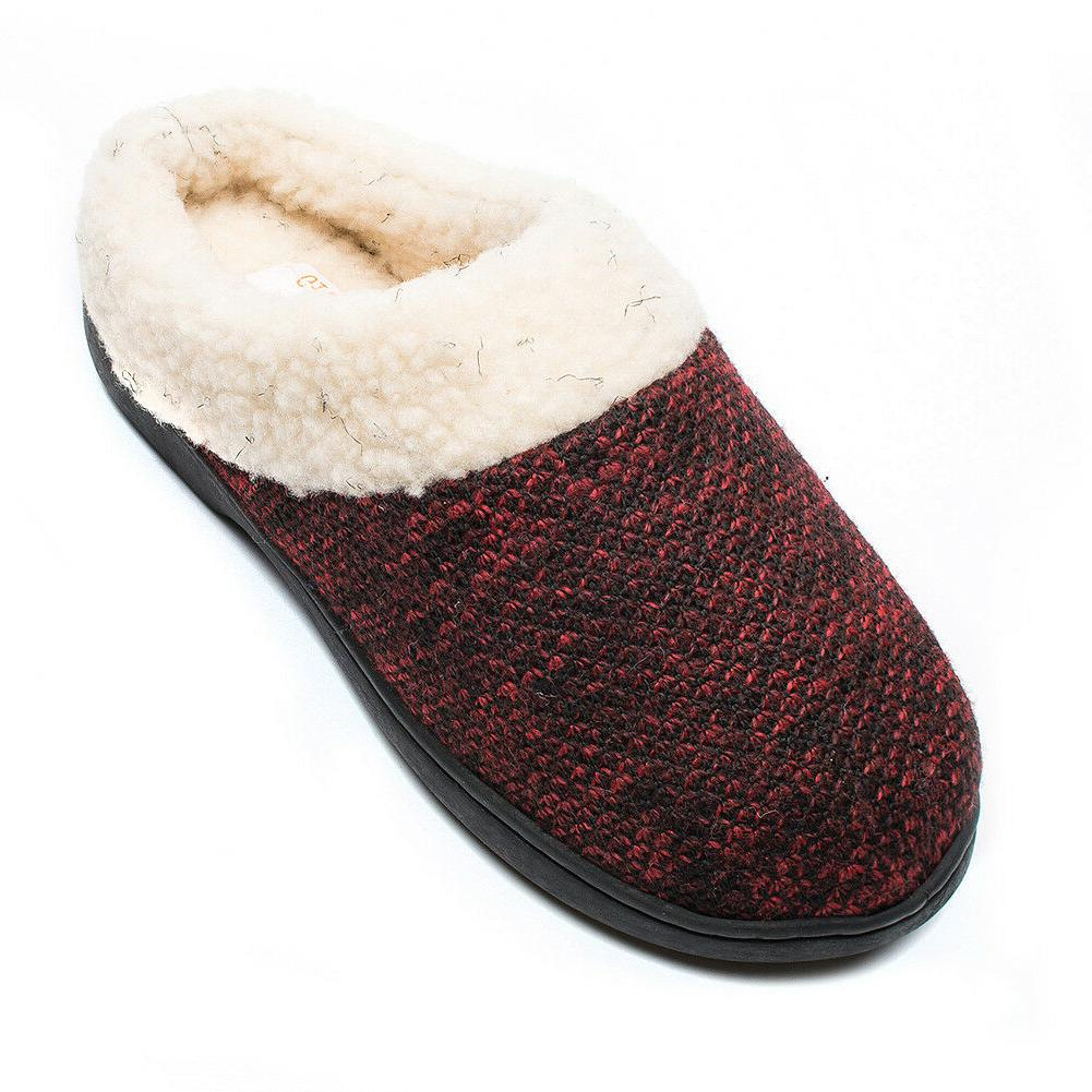Git-up Women's Slippers Memory Foam Slip-on Wool