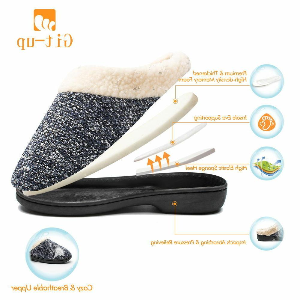 Git-up Slippers Memory Foam Wool Fleece