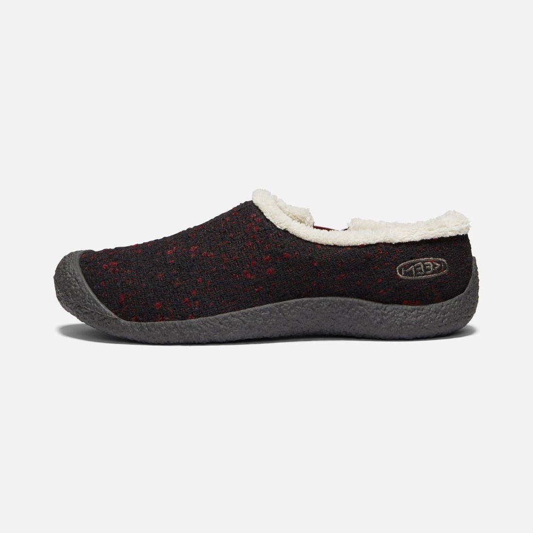 howser slide wool slipper brick raven