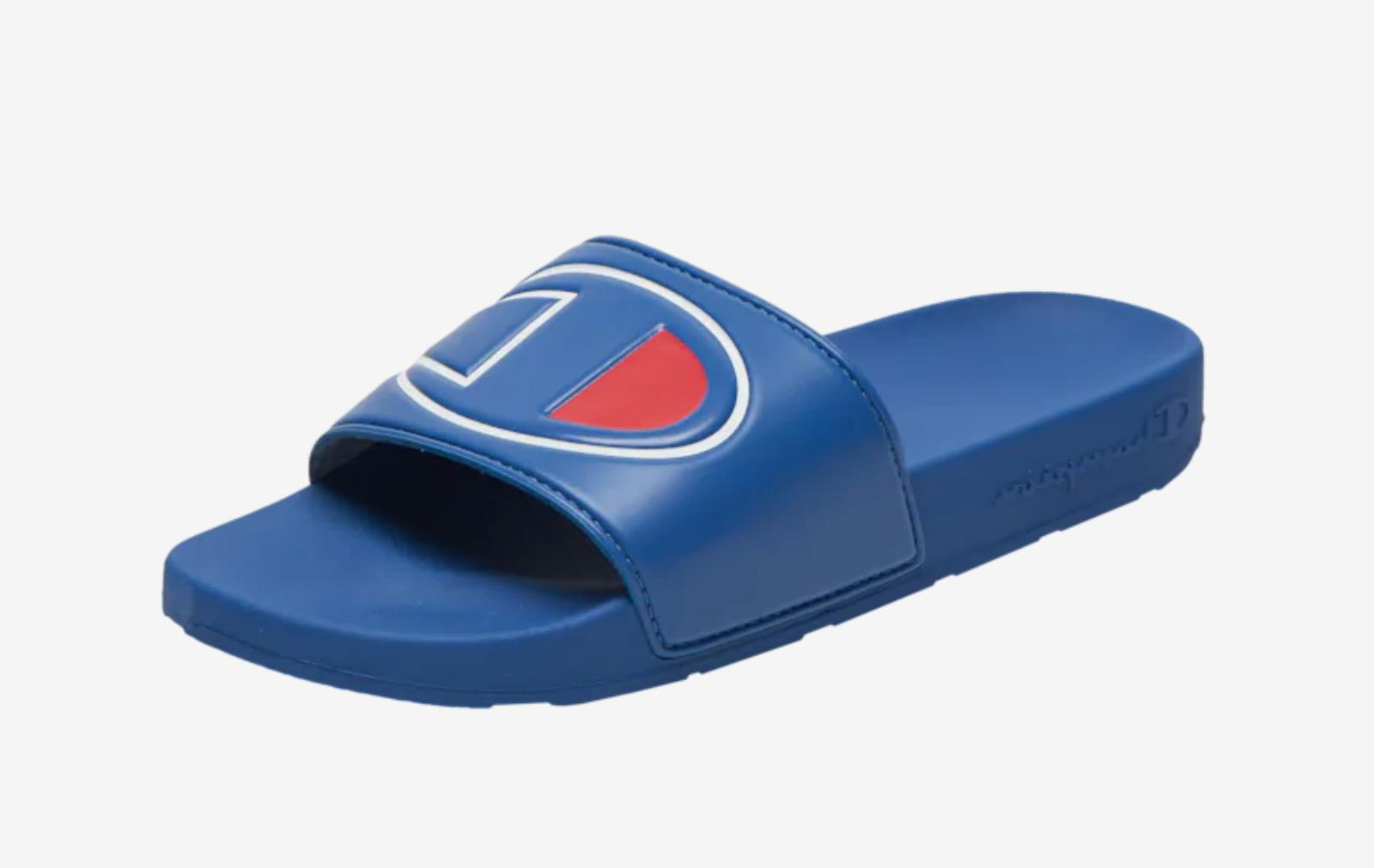 Champion IPO Slide Surf the Web Blue Red and White Size 8-13