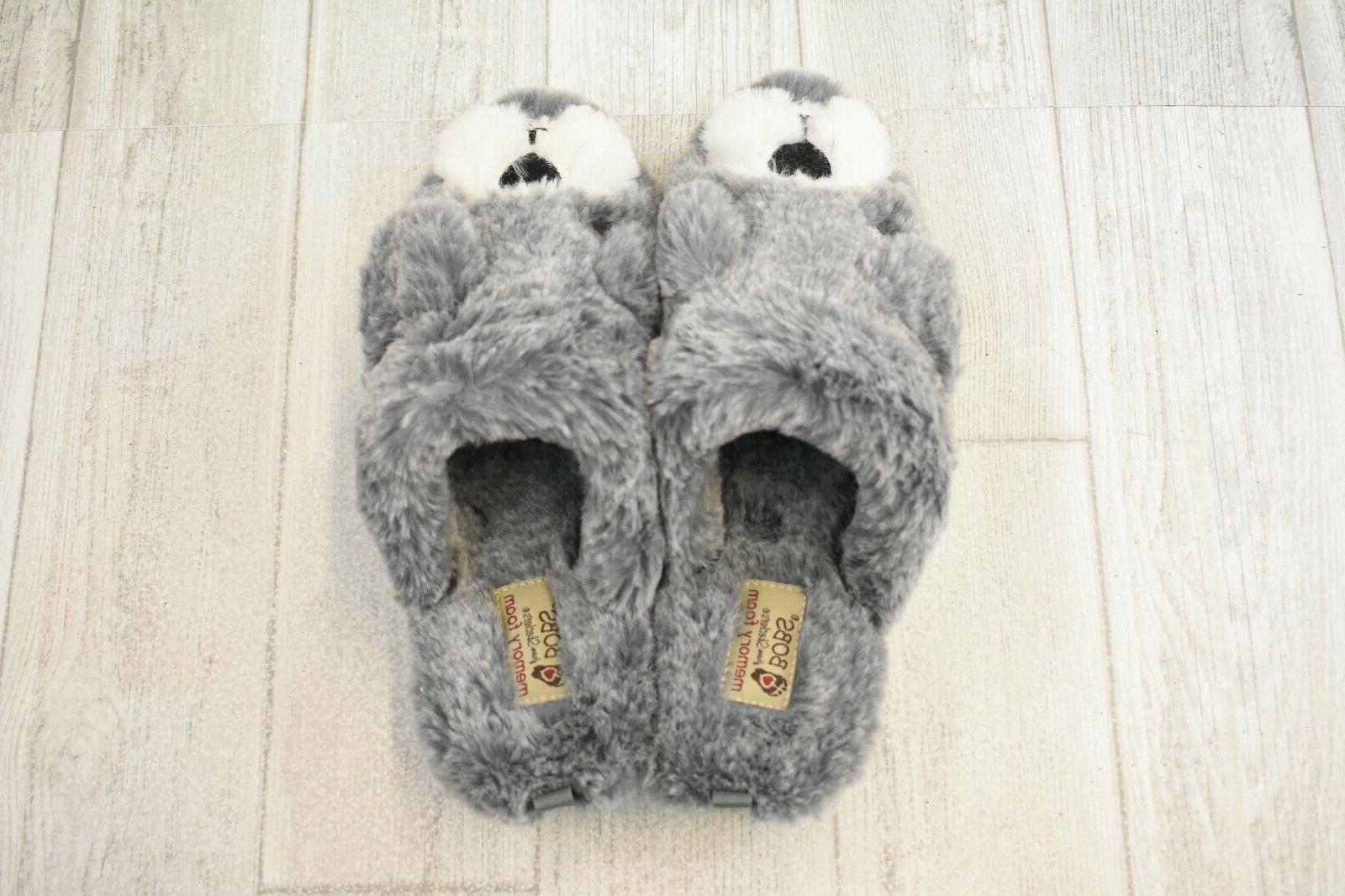 Bobs High Pawfection Slippers Women's 7 Charcoal