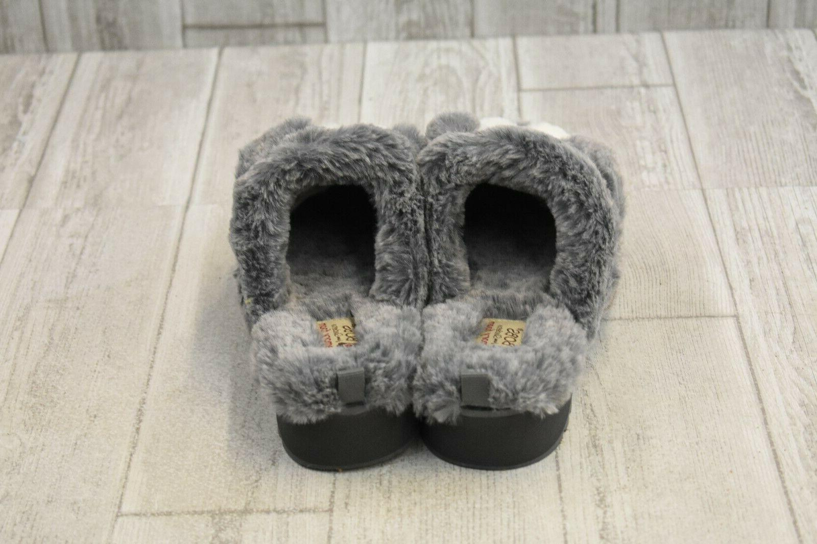 Bobs Skechers High Pawfection Slippers - Women's Size 7 - Charcoal