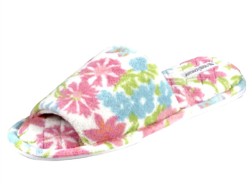 MEMORY TOE FLORAL SLIPPERS SIZE 12