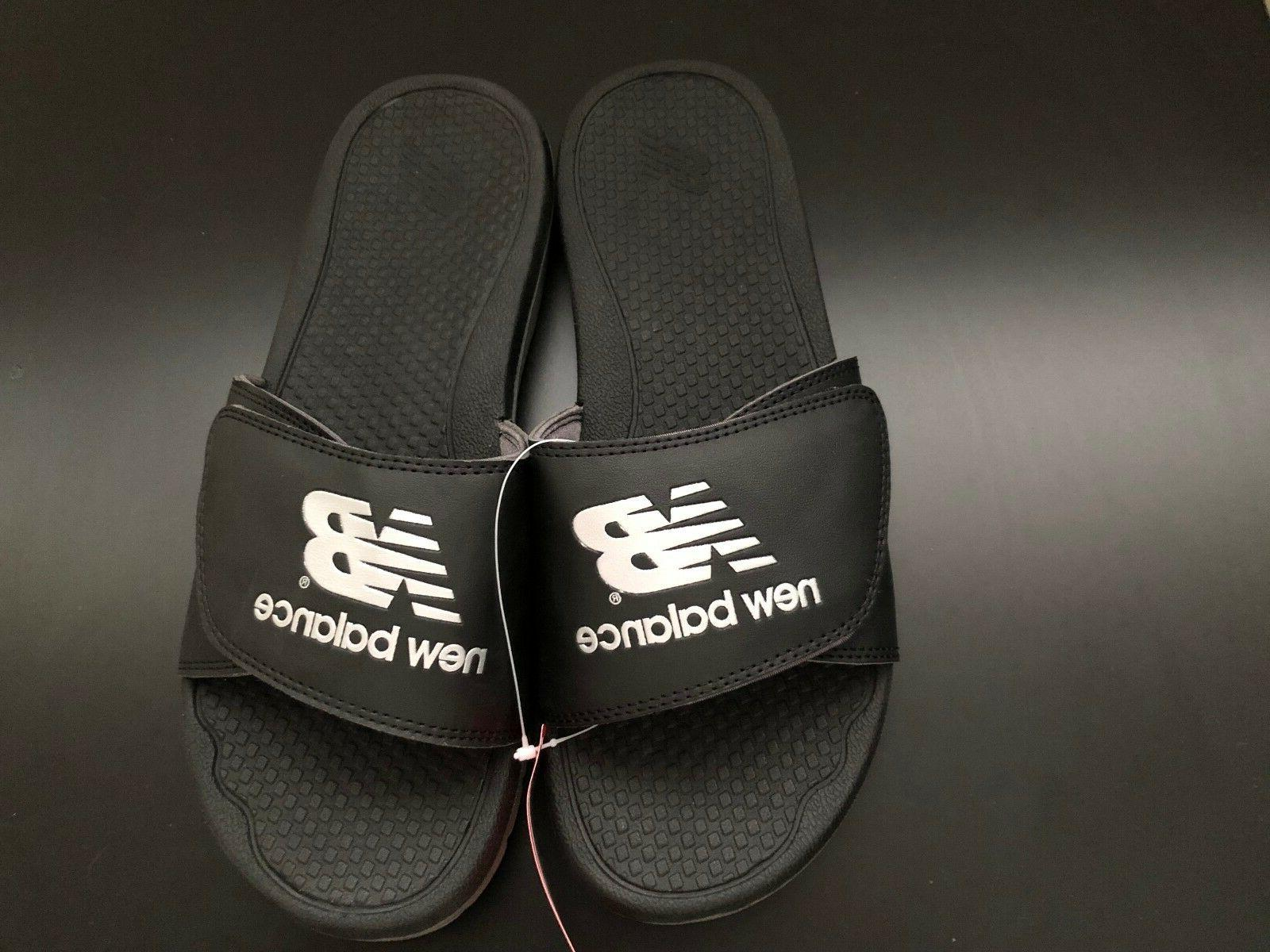 MEN'S Pro-Adjustable SLIDE SANDALS BLACK/SILVER SIZE