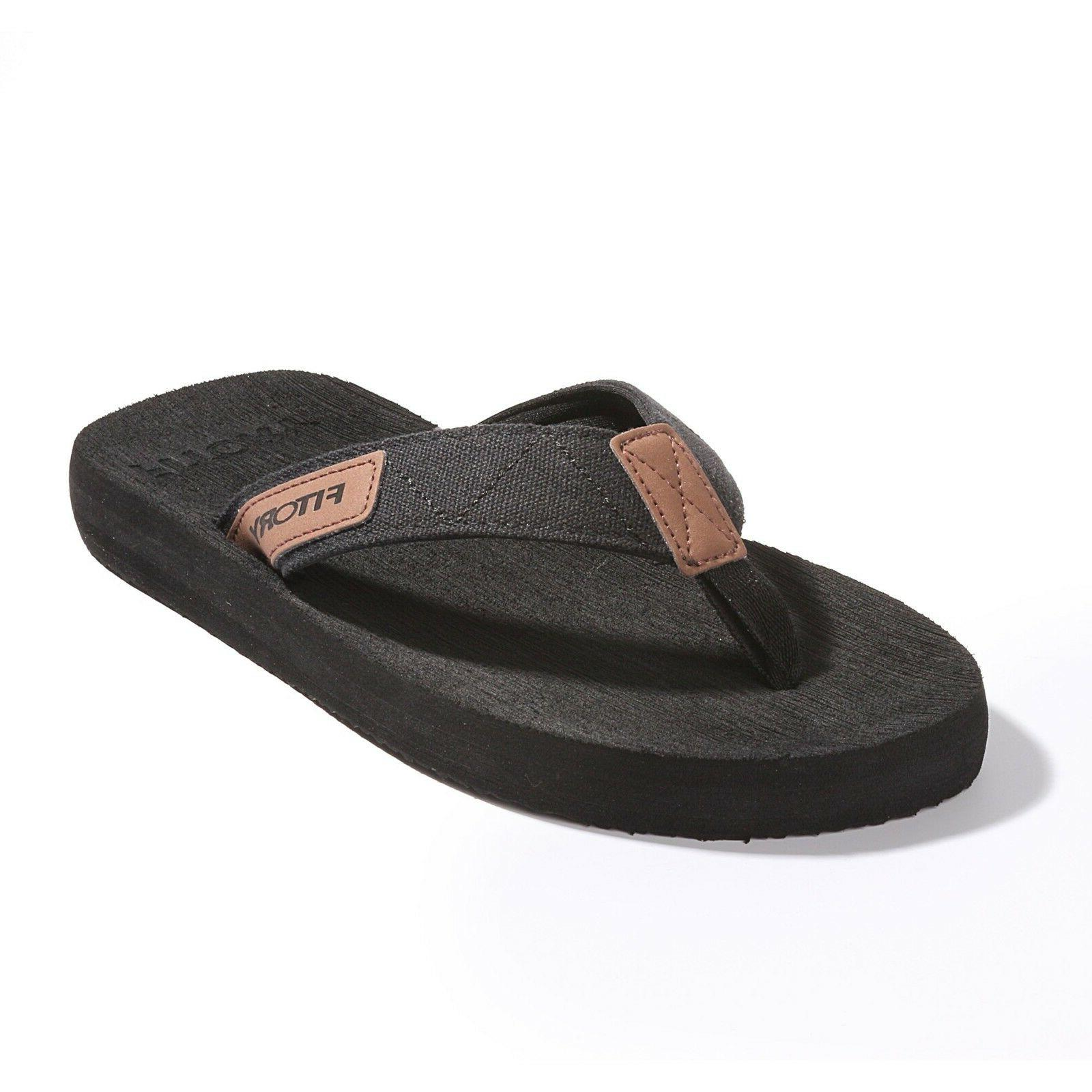 FITORY Men's Slippers Flip-Flops Arch Support Thongs Comfort