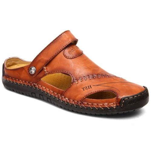 Size Mens Leather Closed Outdoors Sandals