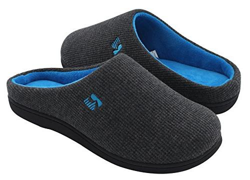 men s two tone memory foam slipper