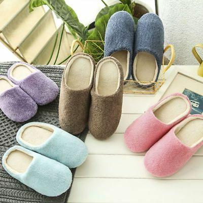 men women soft touch warm indoor slippers