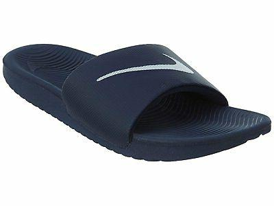 Mens Nike Kawa Slide Sandal Navy Blue White sz 9 10 12 13 Sh