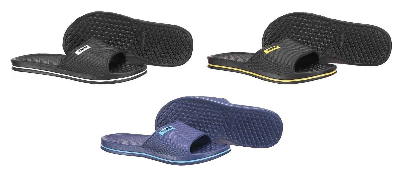 Mens Slip On Sport Slide Sandals Flip Flop Shower Shoes Slip