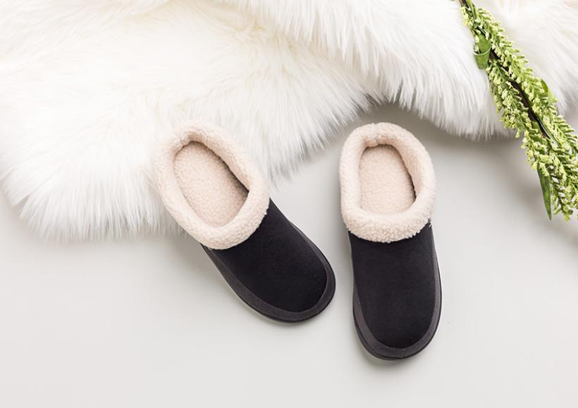 Mens Winter Lined Slippers Slip Shoes