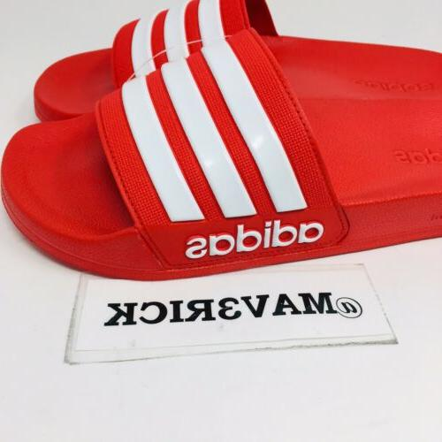 *NEW* Adidas Adilette Slide Red And White